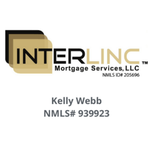 Interlink mortgage services LLC logo with Kelly Webb's name and her NMLS number 939923 below the logo