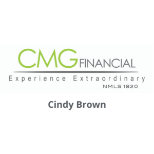 CMG Financial logo with Cindy Brown's name underneath