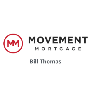 Movement Mortgage logo with Bill Thomas's name underneath