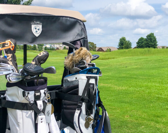 Foxland golf cart with golf bags