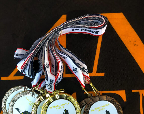Bronze, Silver and Gold medals for winners of 2020 Haunted Hustle 5K and 10K races.